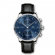 IWC Portugieser Automatic Chronograph Blue Dial Mens IW371491