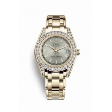 Rolex Pearlmaster 34 Silver Dial m81158-0044