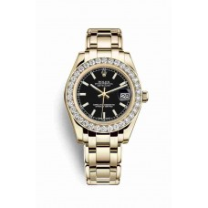 Rolex Pearlmaster 34 Black Dial m81298-0056
